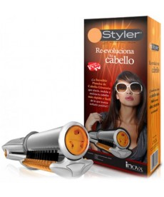 In styler rotor to individual hairs and curly